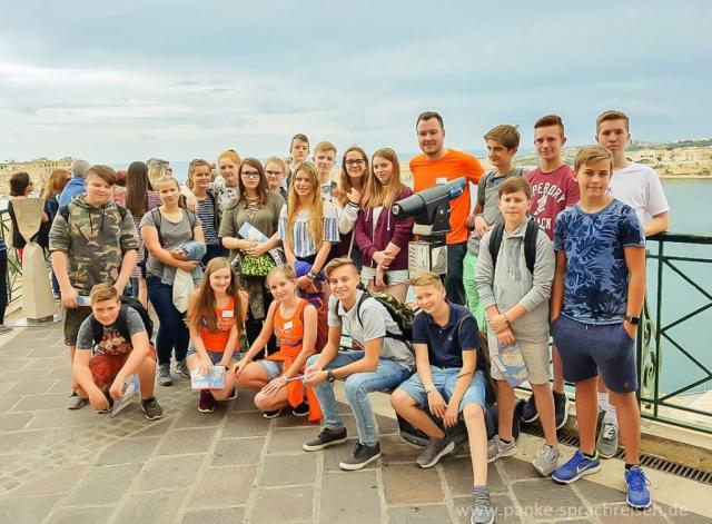 Herbst Sprachreise Gruppe Malta - 1