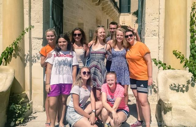 Sommer-Sprachreise-Gruppe Malta 2