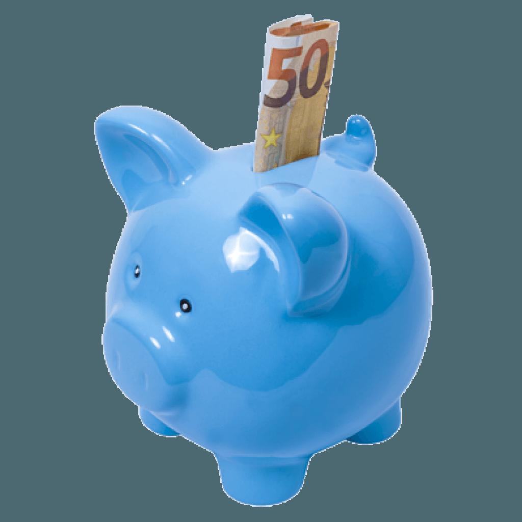 50 Euro ins Sparschwein