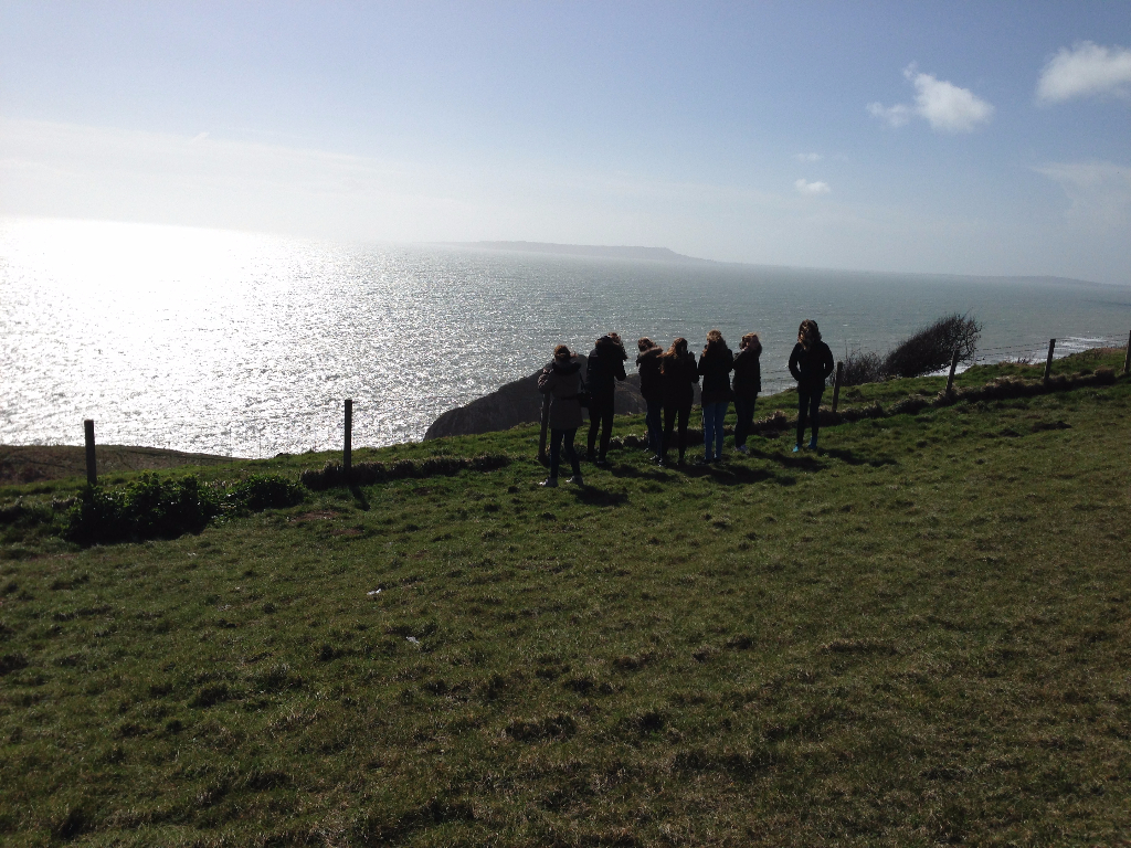 Gruppe 2-1 in Lulworth Cove