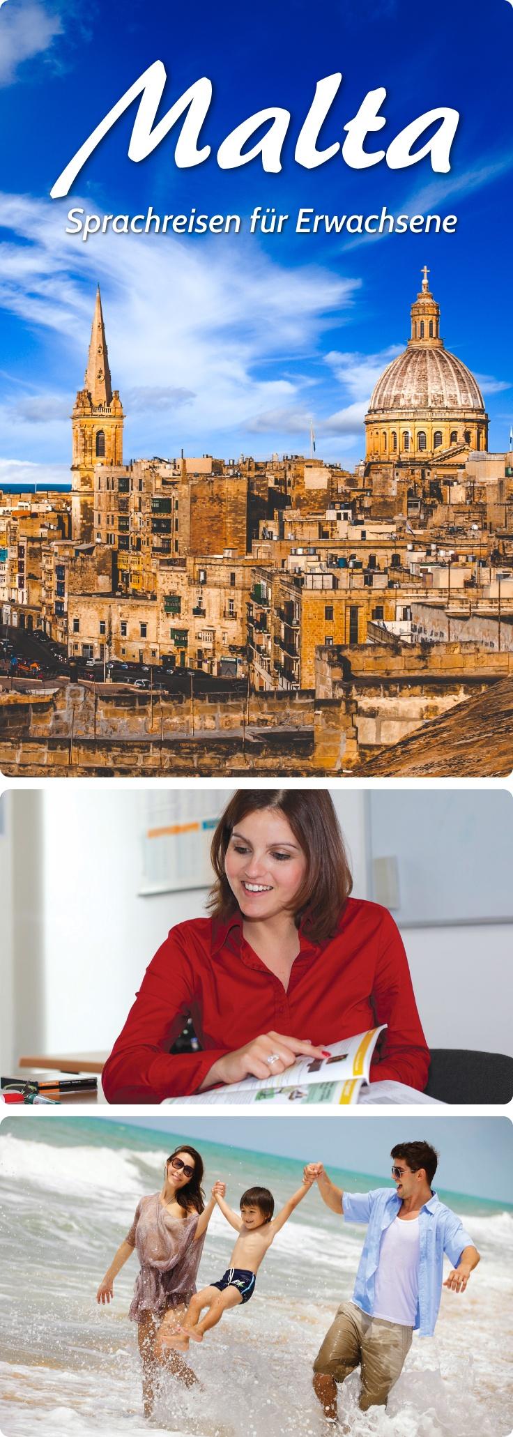 Sprachreisen für Erwachsene nach Malta. #sprachreisen #malta #pankesprachreisen